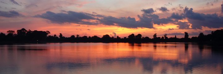 Sunrise at Sra Srang, Cambodia