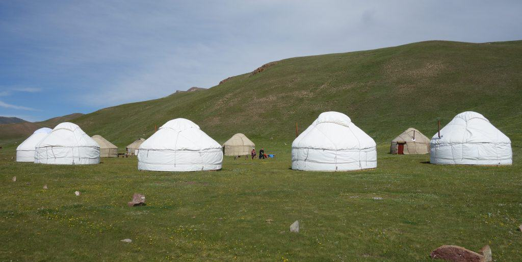 Yurts at Lake Song-Kul, Kyrgyzstan