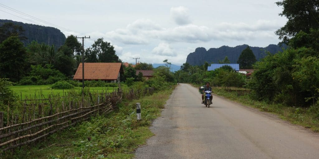 Village in Laos countryside