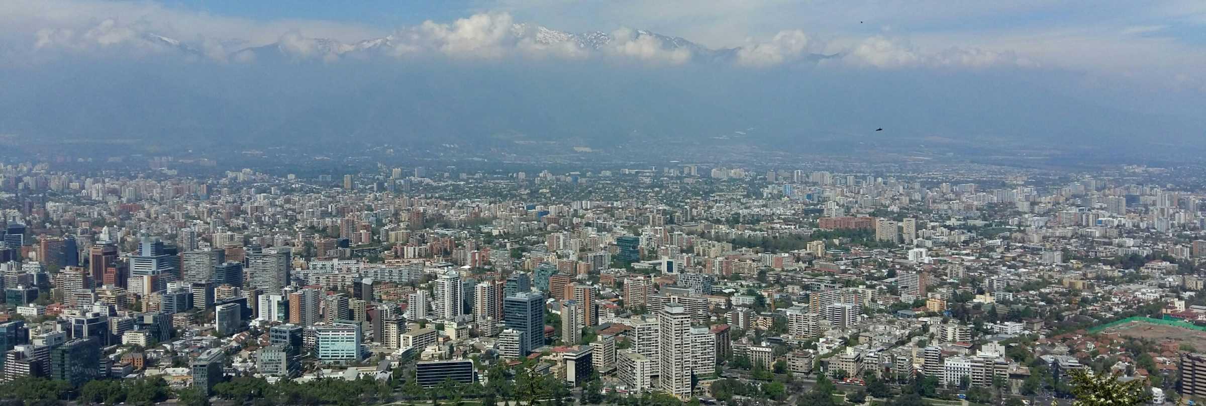 View from Cerro San Cristobal, Santiago de Chile
