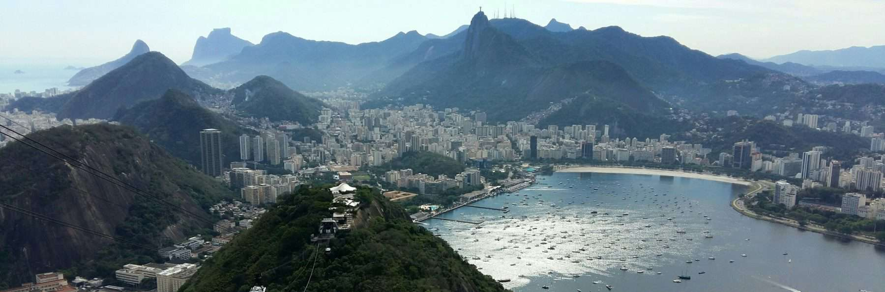 View from Sugarloaf Mountain, Rio de Janeiro, Brazil