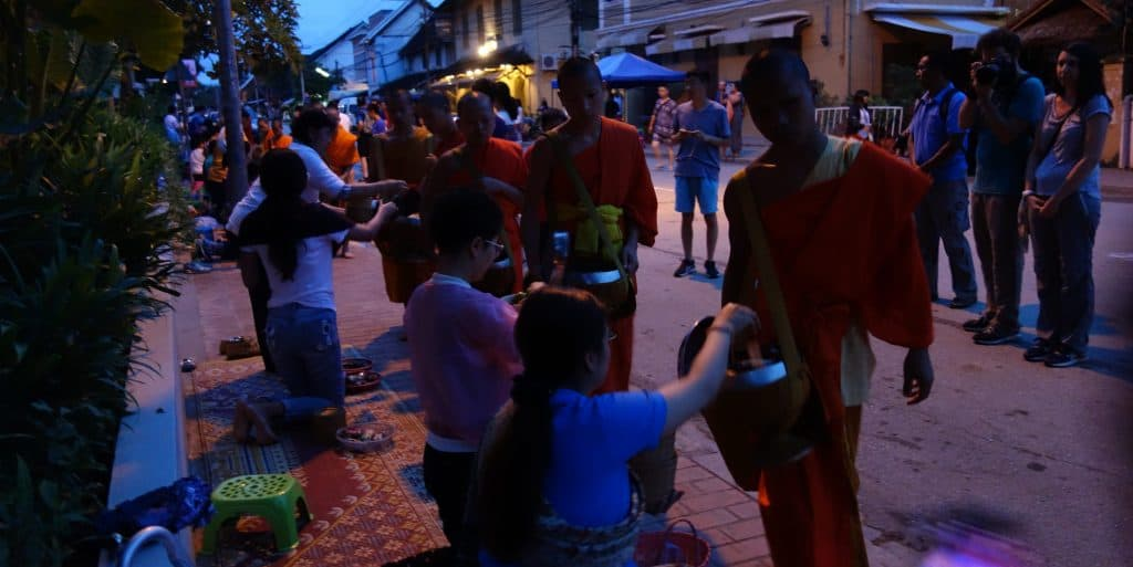 Alms Giving Ceremony, Luang Prabang, Laos