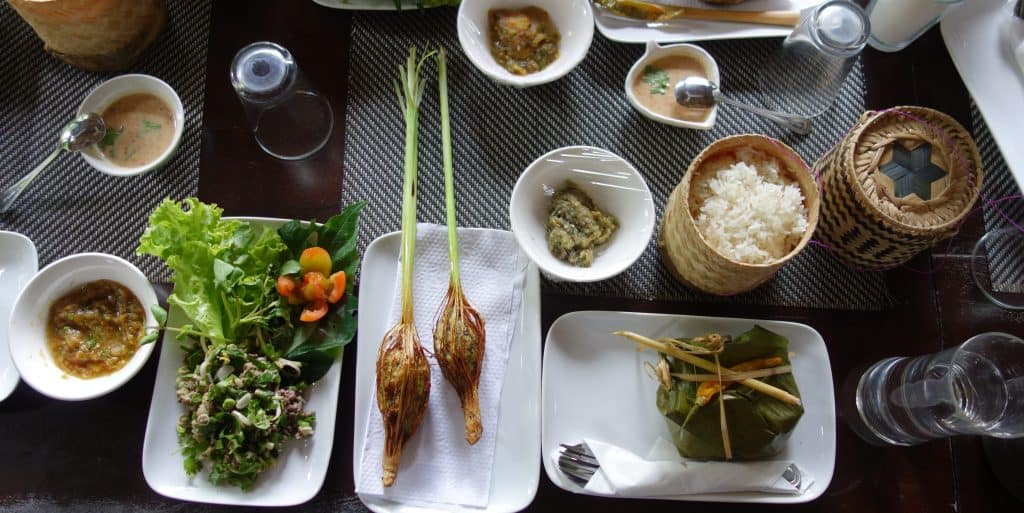Traditional Laos food