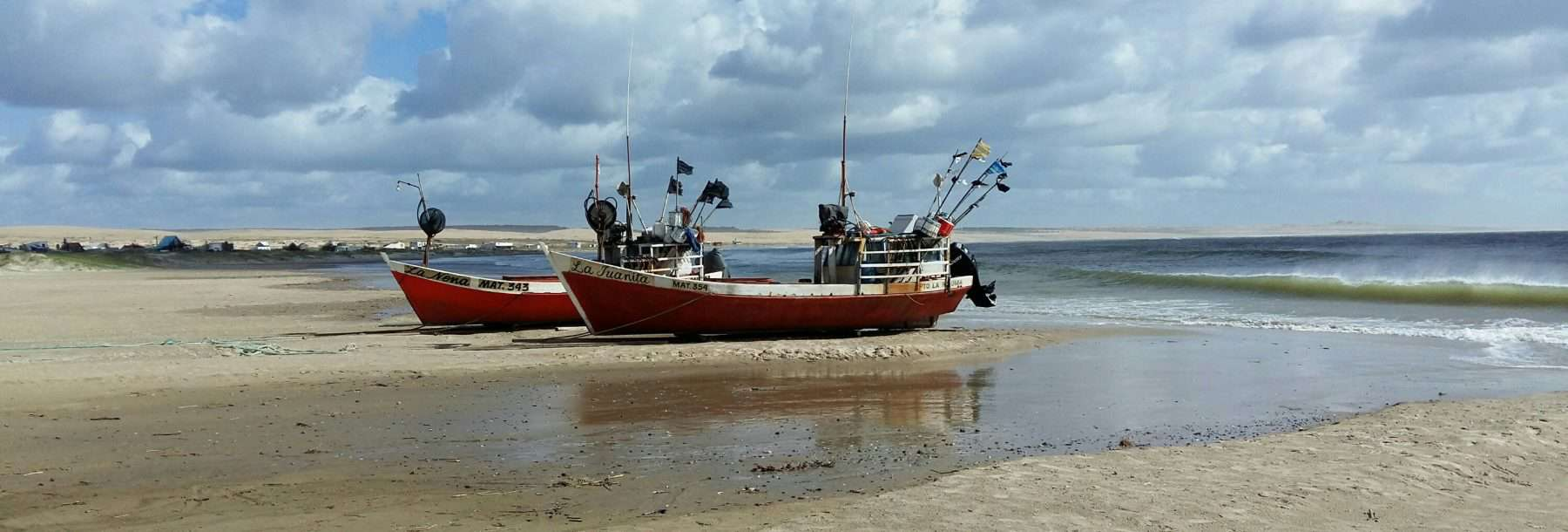 Ships on beach, Cabo Polonio, Uruguay