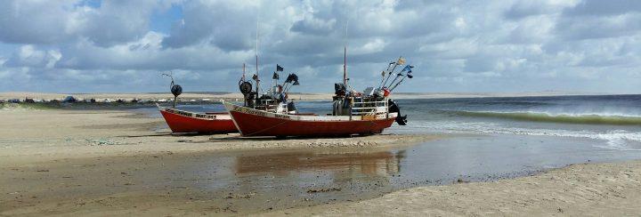 Ships on beach, Cabo Polonio, Uruguay