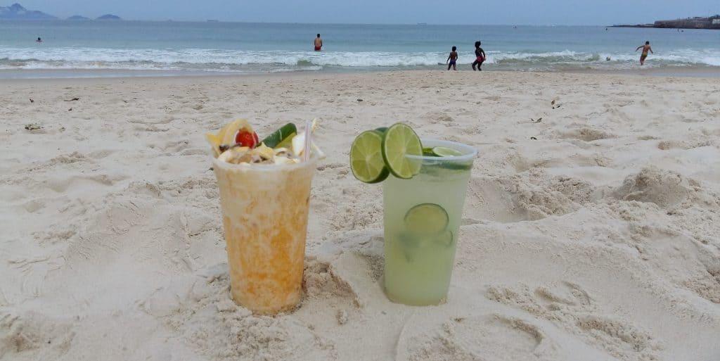 Cocktails, Copacabana Beach, Rio de Janeiro, Brazil