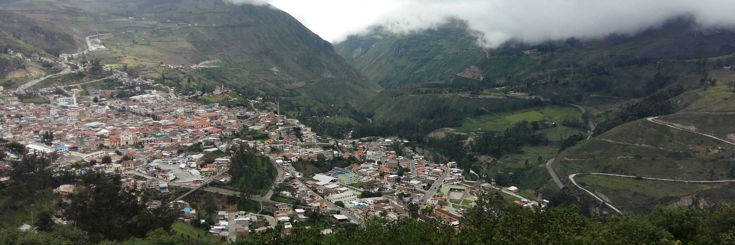 View over the Ecuadorian Andes