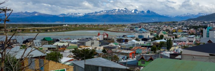 View over Ushuaia, Patagonia, Argentina