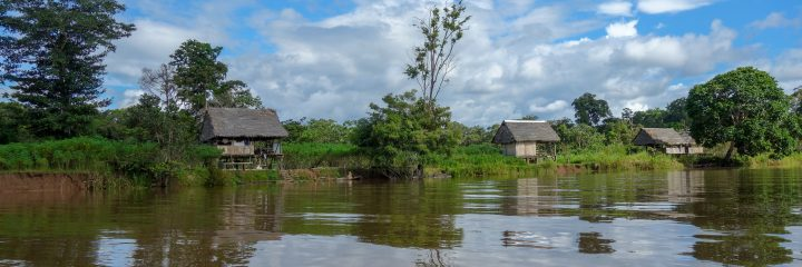 Village in the Amazon near Iquitos, PEru