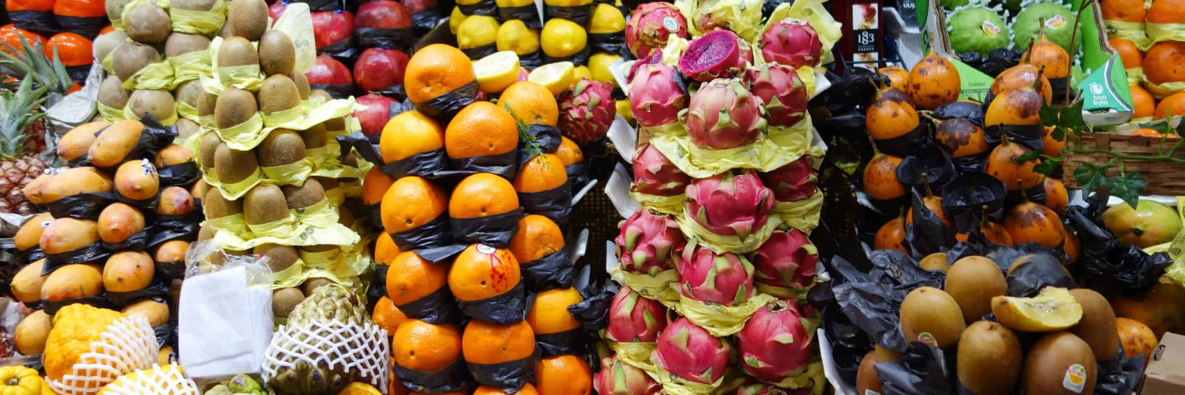 Fruit on a market, Peru
