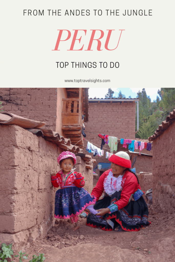 Pinterest image for top things to do in Peru