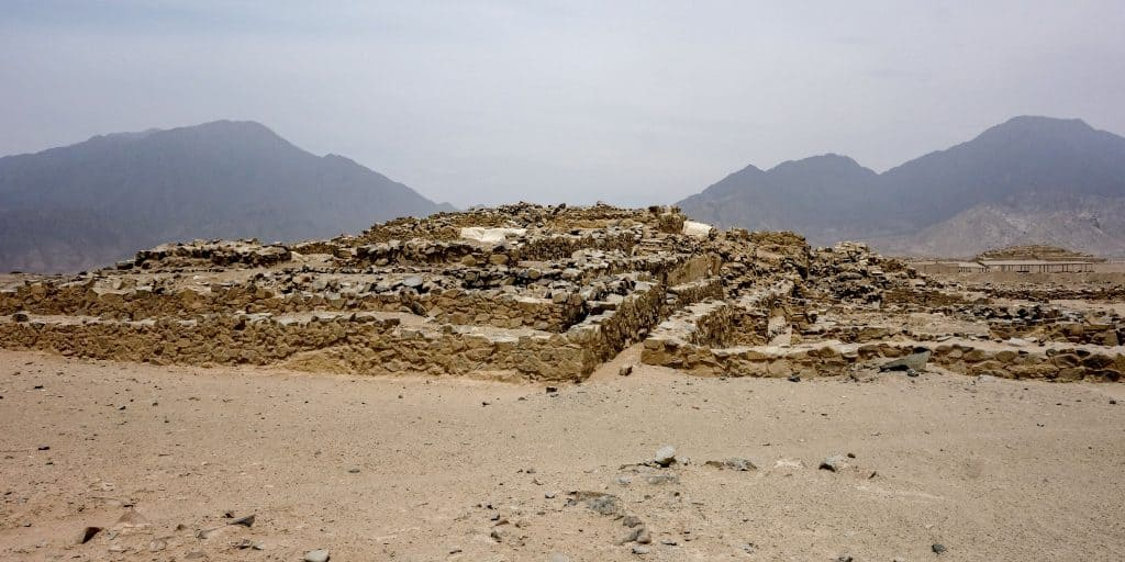 Pyramids in Caral, Peru