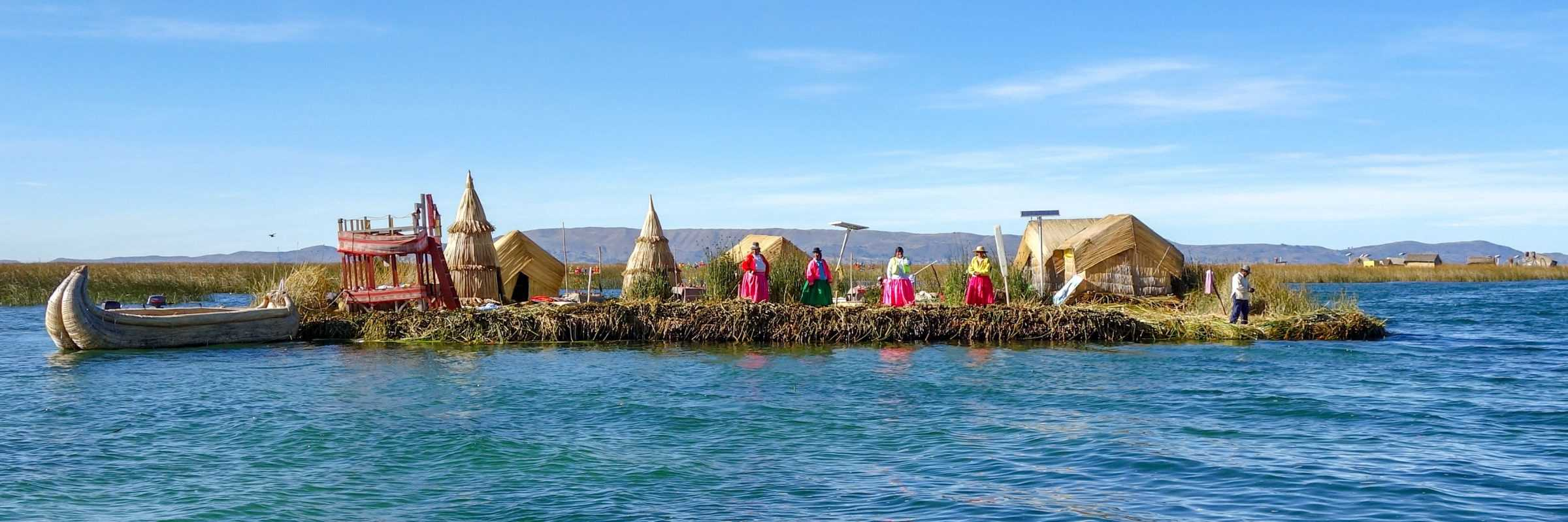 Reed Island on Lake Titicaca, Peru