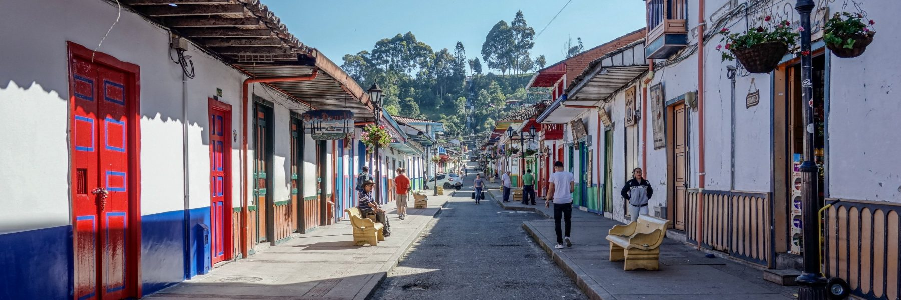 Street view in Salento, Colombia