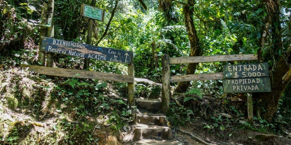 Entrance to the Casa de los Colibris, Cocora Valley, Colombia