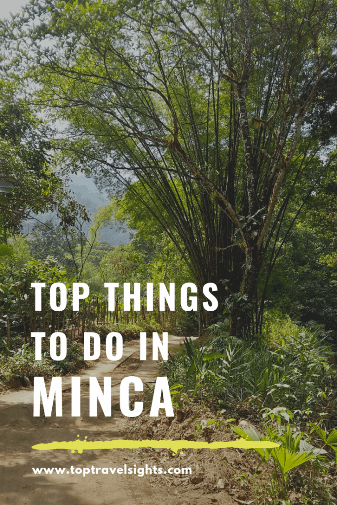 Pinterest graphic for top things to do in Minca