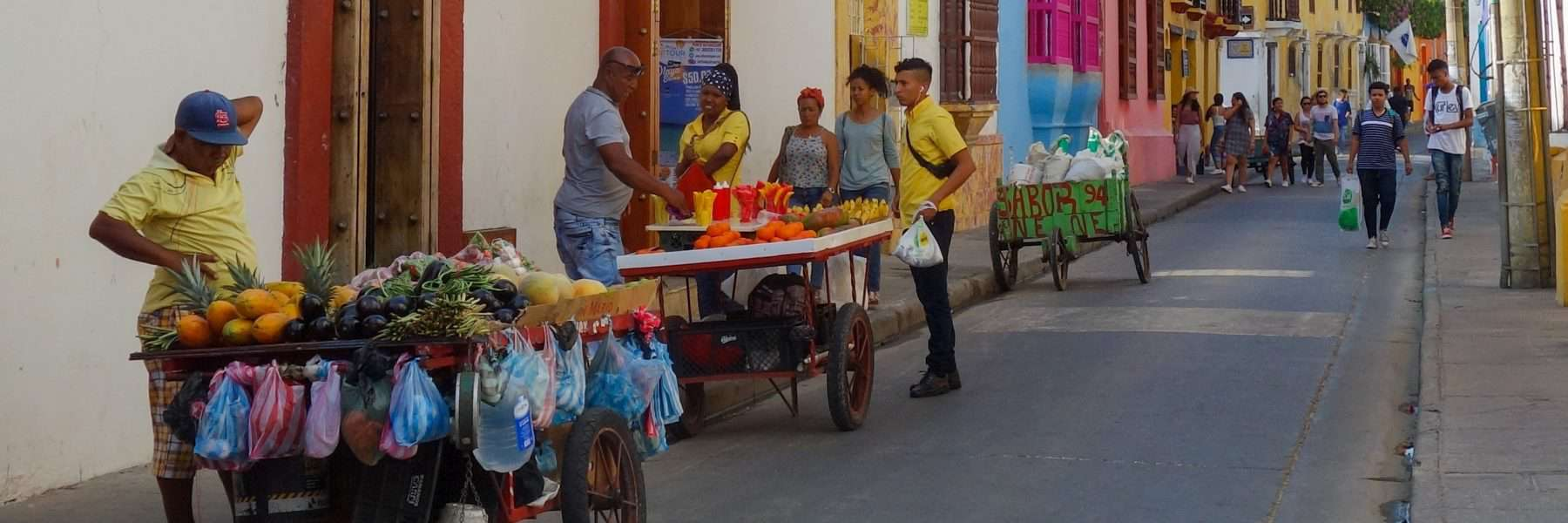 Street food vendors in Cartagena, Colombia