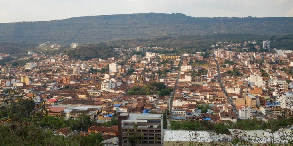 View of San Gil from the Mirador de la Cruz